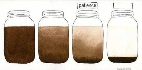 Image result for pictures of the mud settling in a jar